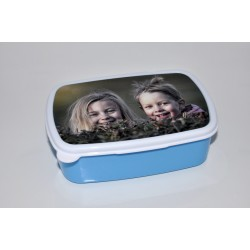 Boîte à tartines bleue