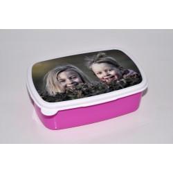 Boîte à tartines rose