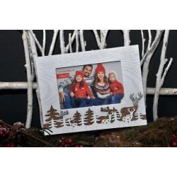 Cadre de Noël Sapin et Rennes