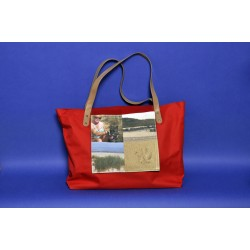 Photo sur grand sac de plage ROUGE