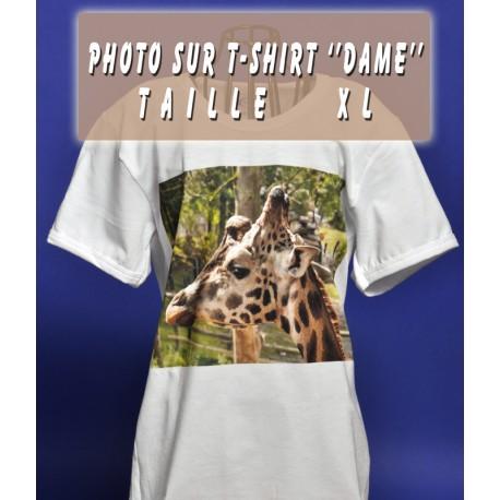 Photo sur T-Shirt Dame XL