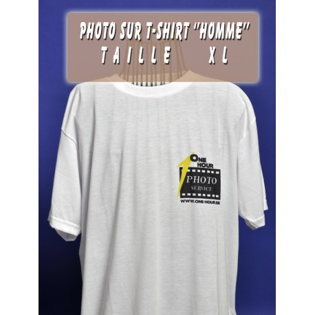Photo sur T-Shirt Homme XL